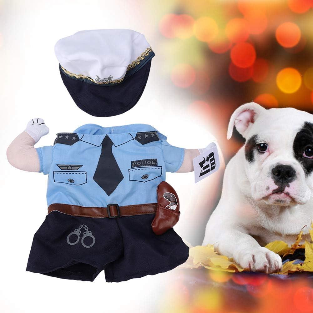 Haustier Polizei Kost/üm Kost/üm Hund Katze Haustier Halloween Weihnachten Cosplay Prop Dressing Party Bekleidung Racer Kost/üm Muster Haustier Beide F/ü/ße Verr/ückte Karriere Kleidung