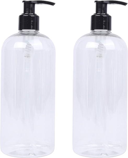 Lucemill - 2 botellas de plástico transparentes con dispensadores ...