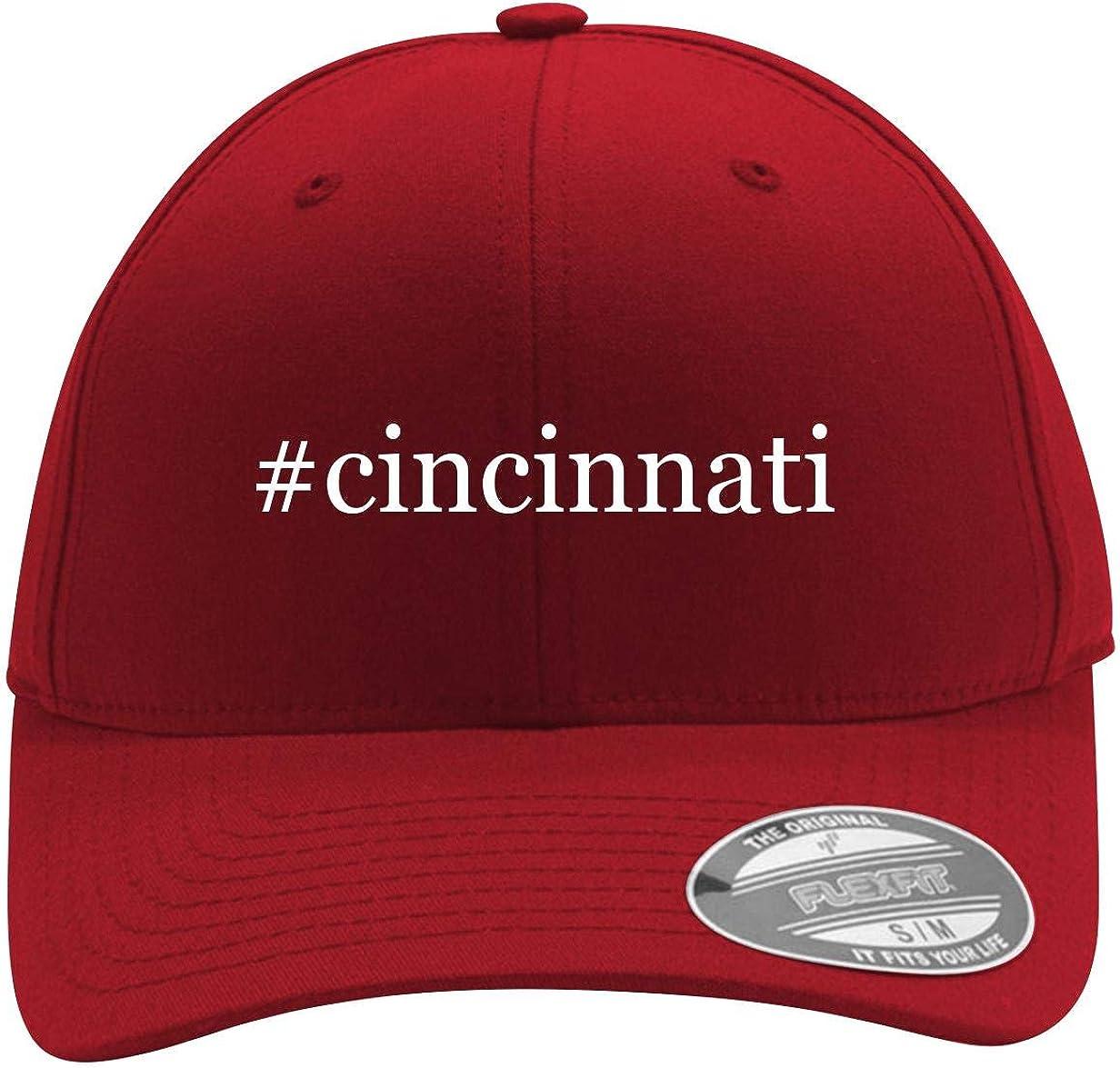 #Cincinnati - Men's Hashtag Flexfit Baseball Cap Hat 613Uox3ow-L