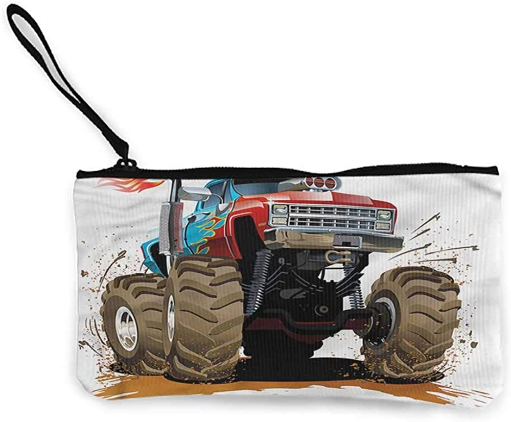 Coin pouch Man Cave,Classic Vintage Sports Car,Zipper Small Purse Wallets