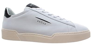 the best attitude 45501 63934 GHOUD Venice Herren Schuhe Sneakers Low Leder Weiss Schwarz ...