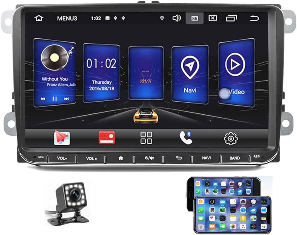 Podofo Car Stereo For Vw Android 9 0 Gps Navigation Autoradio Car Video Player 9 Touch Screen 2g 16g Upgrade Ui For Jetta Golf Polo Passat Tiguan Bluetooth Dual Usb Am Fm Wifi Mirror Link Dvr Subwoofer Steering Wheel Control Backup