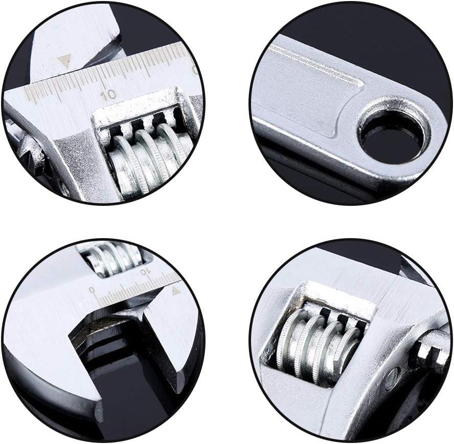 minillave inglesa ajustable reparaci/ón de 150 mm Llave inglesa ajustable llave de tubo ajustable para el mantenimiento del coche