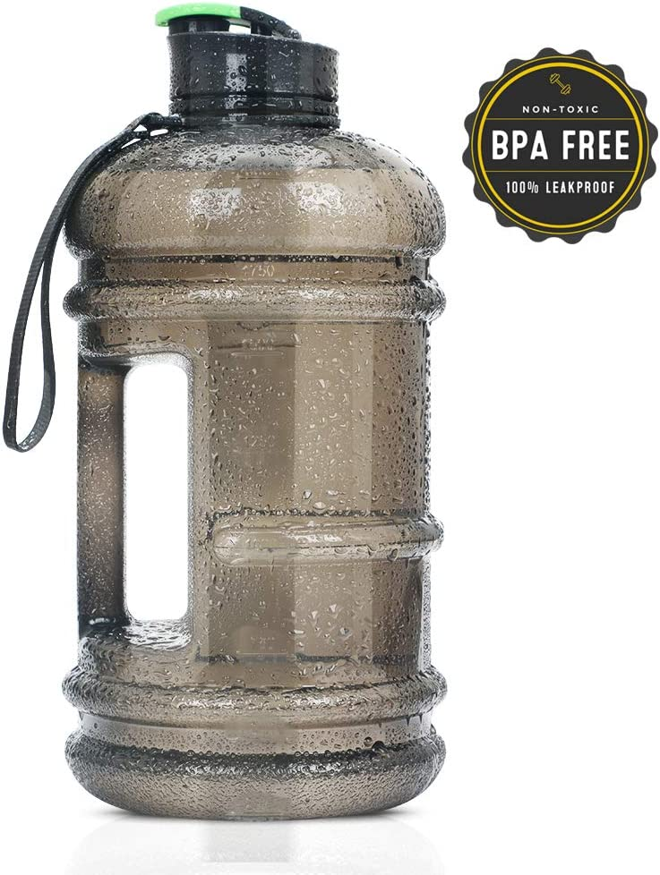 2.2L Water Bottle 75oz Half Gallon Capacity Leakproof BPA Free Odorless Material Solid Jug Daily Hydration Gym Fitness Athletic Gear Sports Water Bottle for Camping Hiking Outdoor Activities