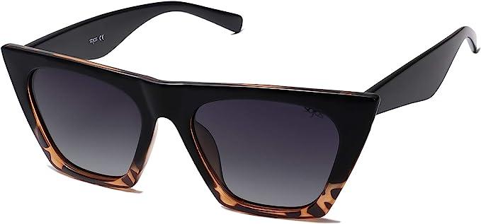 1960s Sunglasses | 70s Sunglasses, 70s Glasses SOJOS Retro Square Cateye Polarized Women Sunglasses Trendy Style BELLA SJ2115 $13.97 AT vintagedancer.com
