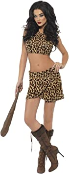 Smiffys - Disfraz de cavernícola para mujer, talla UK 8-10 ...