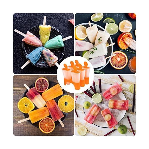 Bemomo - Stampi per ghiaccioli fai da te riutilizzabili, i bambini preferiscono i ghiaccioli con base, meraviglioso… 6 spesavip