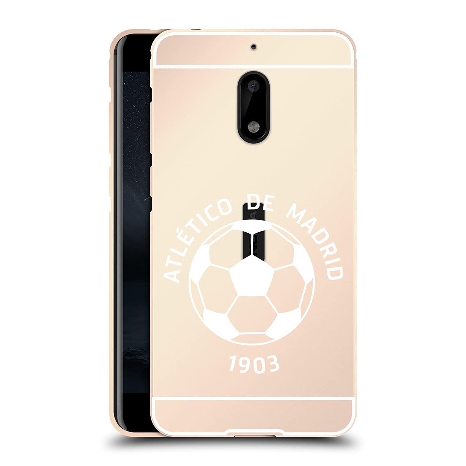 Amazon.com: Official Atletico Madrid Red Various Designs Gold Metallic Aluminum Bumper for Nokia 6: Cell Phones & Accessories