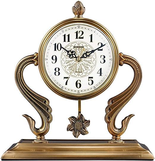 SMC Reloj de Mesa Decorativo Retro Moderno Europeo silencioso ...
