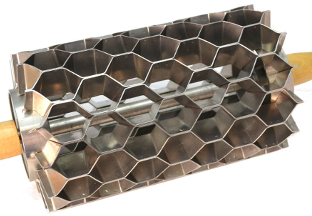 Stainless Steel Hex Cutter, 98 Cuts, Donut Holes, Biscuits, Crackers, Etc.
