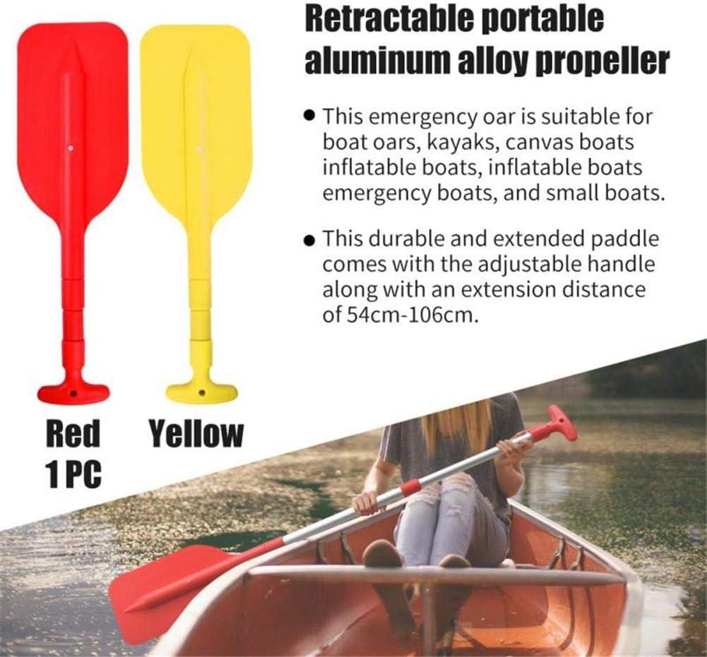 N//T Boat Oars with Anti-Slip Grips Portable Adjustable Aluminum Alloy Kayak Paddles for Boat Kayak Canoe Red
