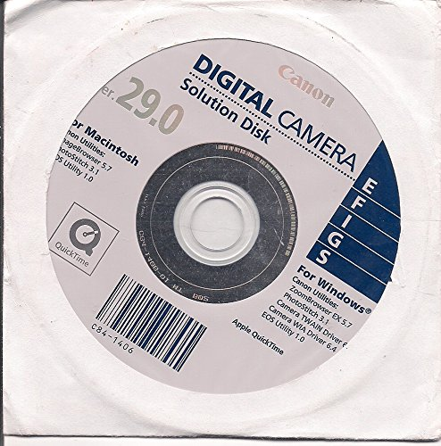 Canon Digital Camera Solution Disk Ver. 29.0 Digital Camera Solution Cd Rom