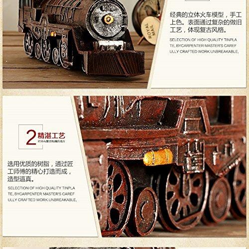 American locomotive model bar window props models Home Furnishing crafts ornaments ZCL1130006 ( Color : C )