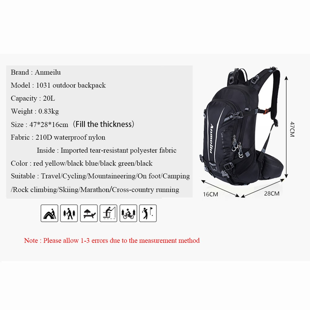 9f8c9c266727 Amazon.com   ANMEILU 20L Hydration Backpack + 2L Water Bladder Bag ...