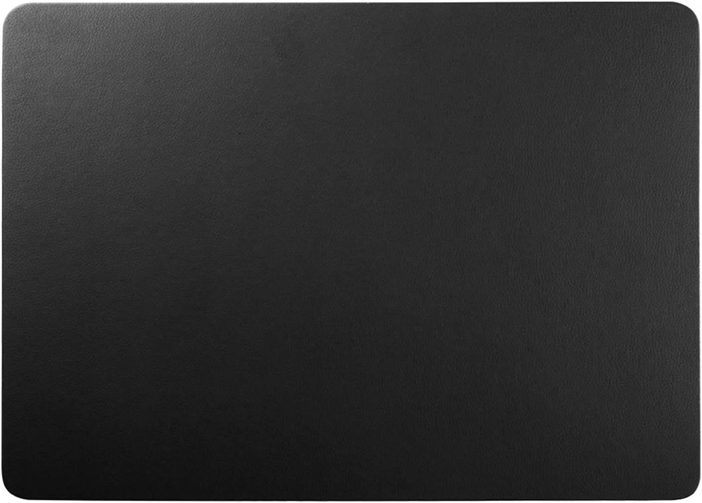 Black Leather Desk Pad Teather PU Leather Desk Mouse Mat Blotters Organizer for Gaming, Writing, Working … (17'' x 12'')