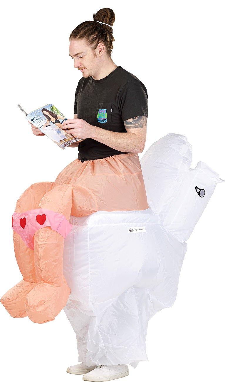 Playtastic women's costume, selfinflating joke costume (carnival disguise)