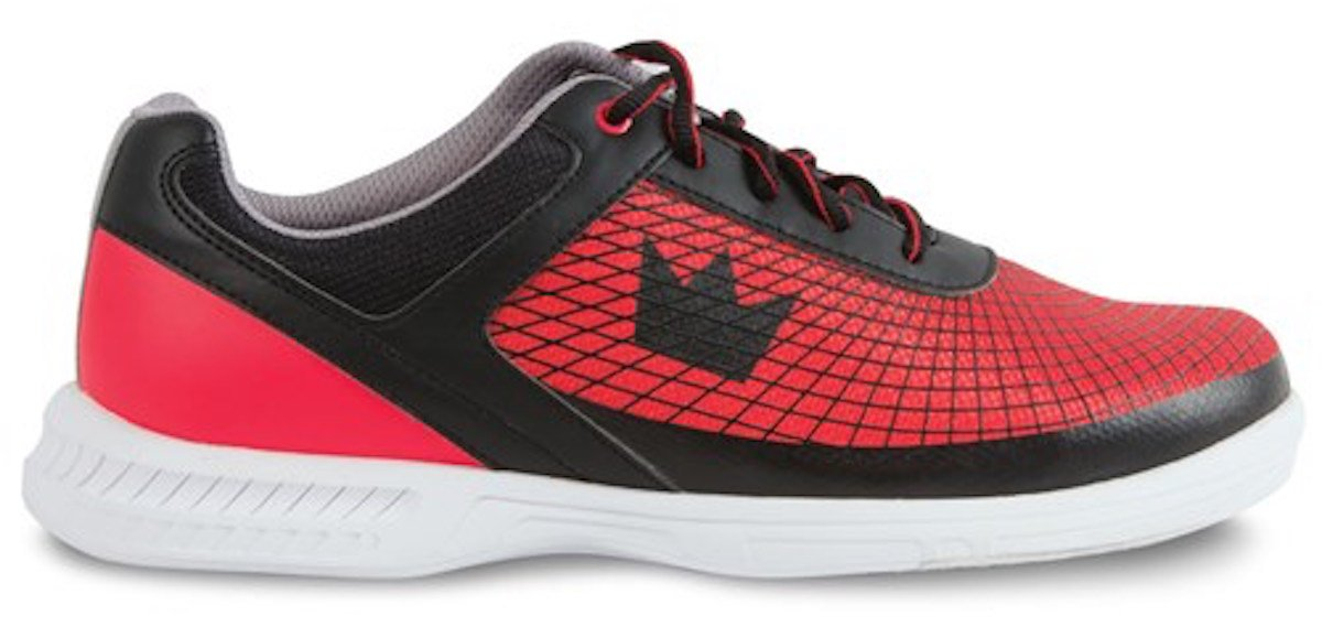 Brunswick Frenzy Mens Bowling Shoe Black/Red, 8.0