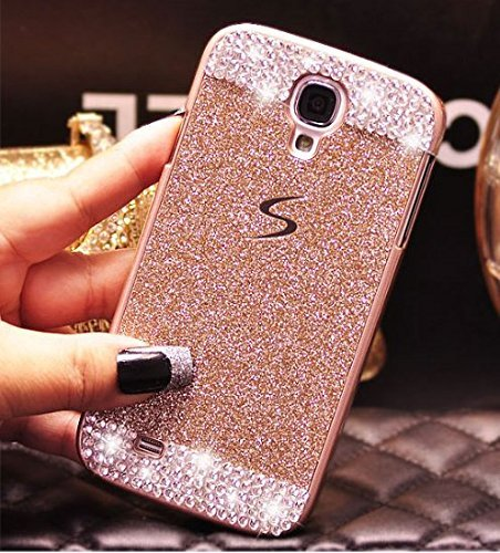 Galaxy S5 Case ,LA GO GO(TM) Luxury Handmade Diamond Hybrid Glitter Bling Hard PC Shiny Sparkling with Crystal Rhinestone Cover Case for Samsung Galax…