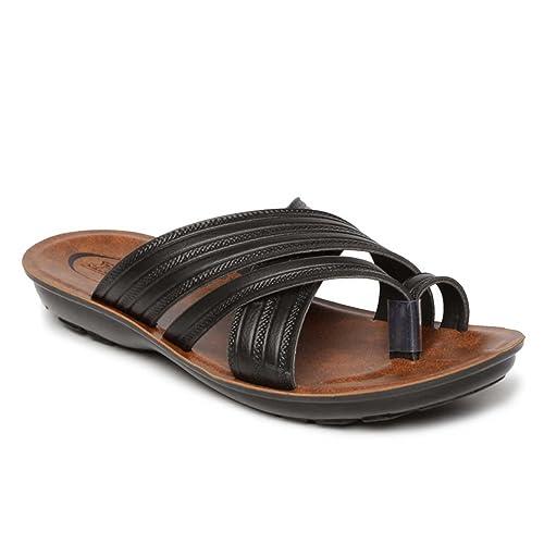 2d04ff04e PARAGON Vertex Men s Black Flip-Flops  Buy Online at Low Prices in India -  Amazon.in