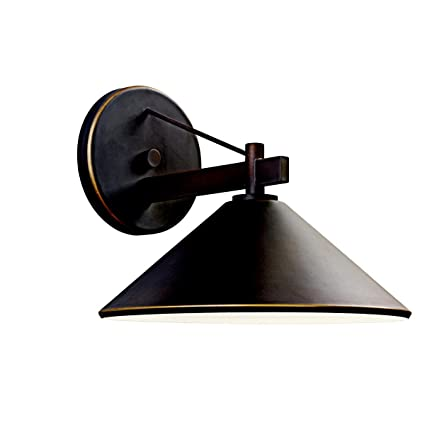 Kichler 49061oz ripley indoor outdoor wall 1 light olde bronze