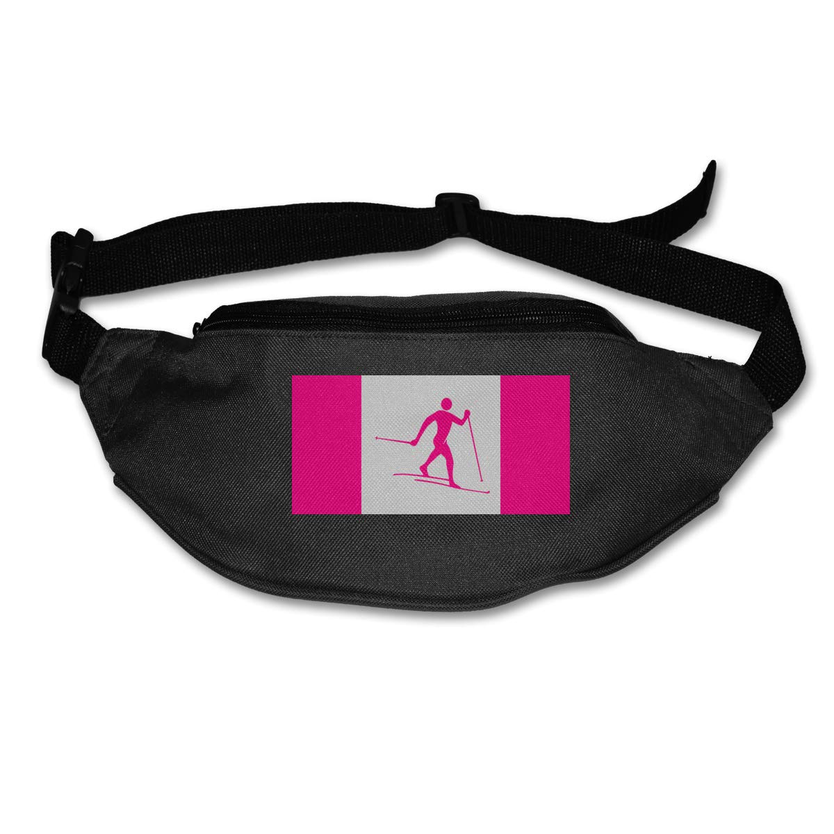 Canada Flag Nordic Combined Sport Waist Pack Fanny Pack Adjustable For Hike
