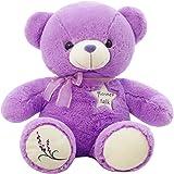 IKASA ぬいぐるみ 特大 くま テディベア 可愛い熊 動物 大きい くまぬいぐるみ 熊縫い包み クマ 抱き枕 お祝い ふわふわ  お人形 女の子 男の子 子供 女性 抱き枕 プレゼント ビッグサイズ 35CM ラベンダーの香り