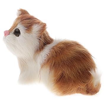 Homyl Juguete Simulado Gato Dulce Regalos para Amigos 11x5.5cm: Amazon.es: Juguetes y juegos