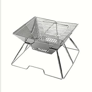 Do4U Barbacoa compacta plegable portátil carbón barbacoa barbacoa de acero inoxidable parrilla para barbacoa para camping