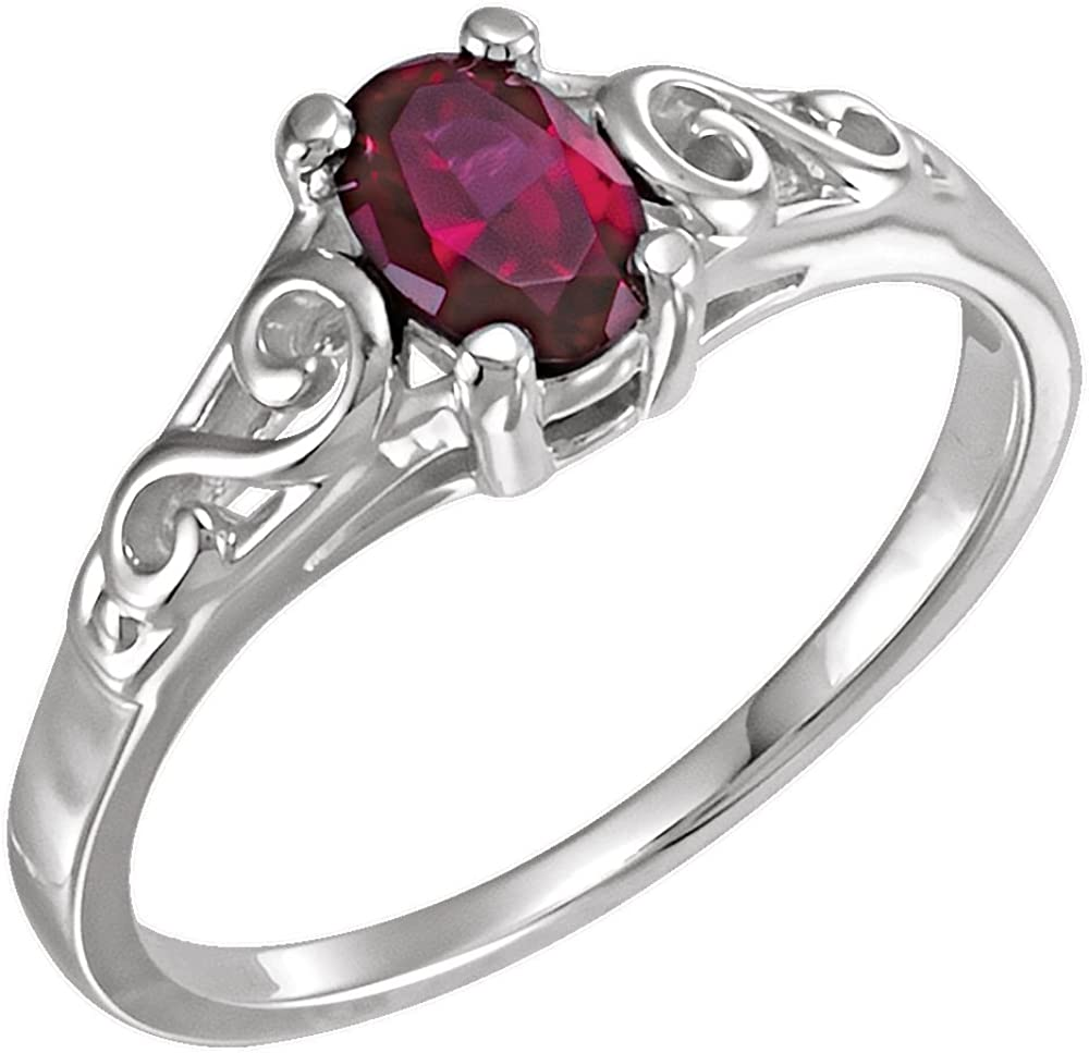Bonyak Jewelry Sterling Silver Rhodium-Plated Polished Celtic Ring Size 6