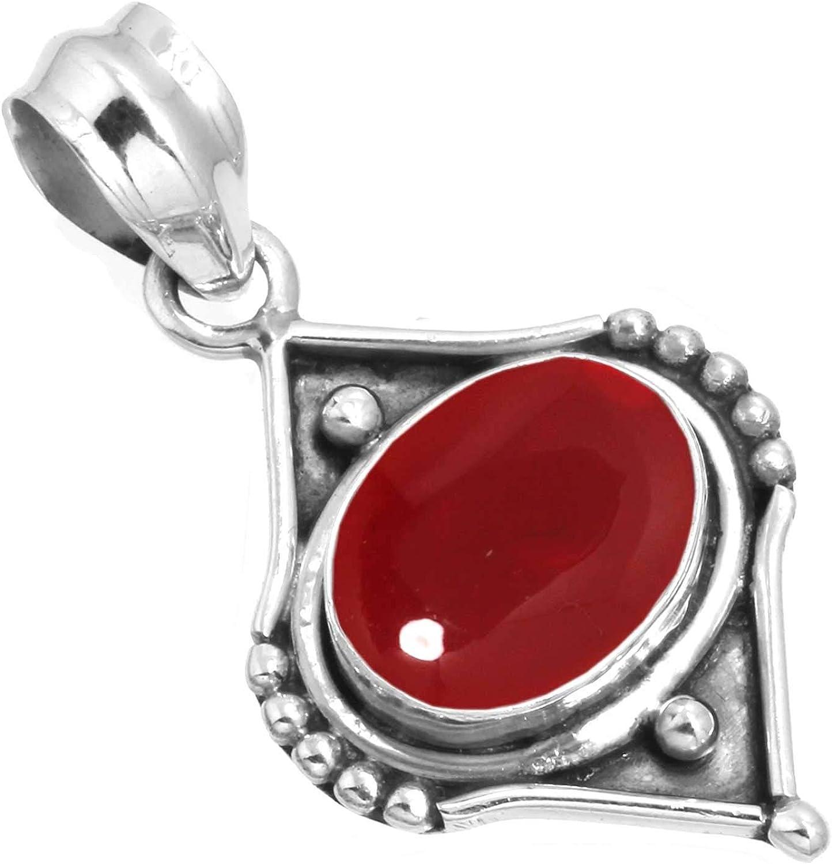 Jeweloporium Solide 925 Sterling Argent Gemme Fait Main Pendentif for Femmes