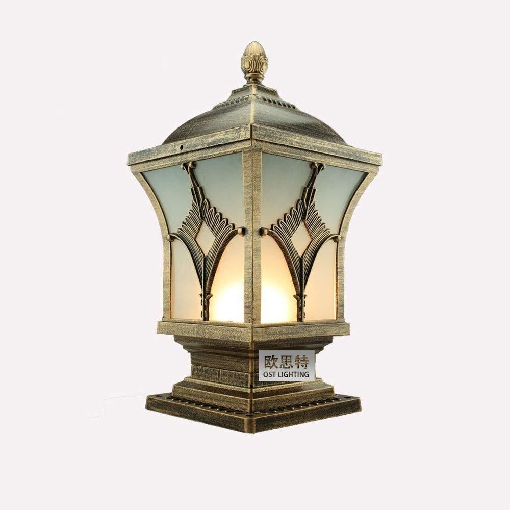 Hurffue Die Casting Aluminum Waterproof Pillar Lamp Outdoor Garden D/écor Post Light Lantern Victorian Decking Outside Column Light for Villa Loft Backyard E27 Edison
