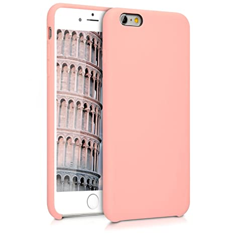 San Francisco 2ddaf 419cc kwmobile TPU Silicone Case for Apple iPhone 6 Plus / 6S Plus - Soft  Flexible Rubber Protective Cover - Rose Gold