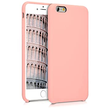 kwmobile Funda compatible con Apple iPhone 6 Plus / 6S Plus - Carcasa de [TPU] para móvil - Cover [trasero] en [oro rosa]