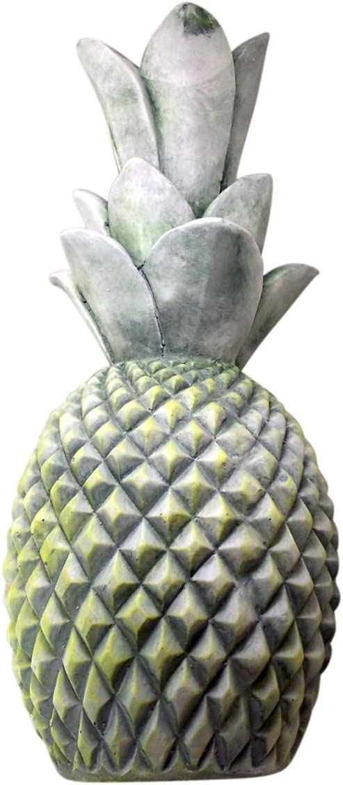 Wowser Large Distressed Green Ceramic Pineapple Garden Decoration, 2 Feet