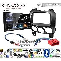 Volunteer Audio Kenwood DMX7704S Double Din Radio Install Kit with Apple CarPlay Android Auto Bluetooth Fits 2011-2014 Mazda 2