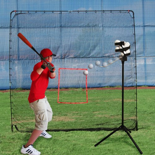 Big League Pro Soft Toss Machine and Big Play Sports Net Package by Heater Sports