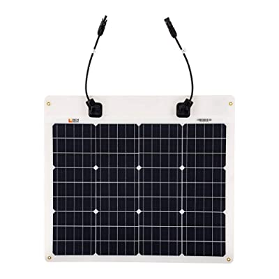 RICH SOLAR 50 Watt 12 Volt Extremely ETFE Flexible Monocrystalline Solar Panel Ultra Lightweight : Garden & Outdoor