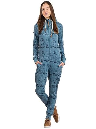 Naketano Damen Jumpsuit Blaumann VIII Jumpsuit Bekleidung