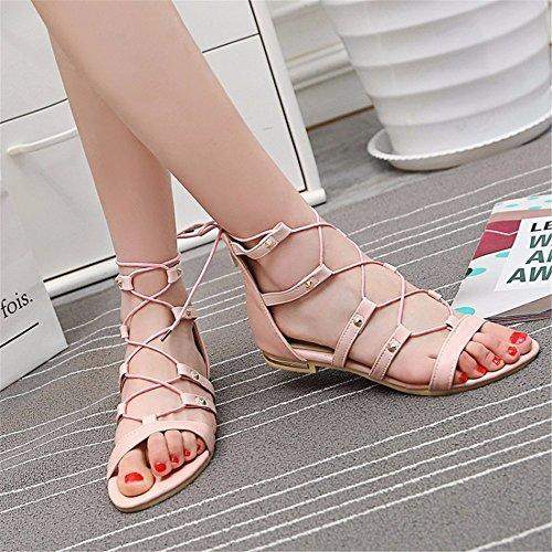 de zapatos estudiante Blazer Pink grande tamaño vendaje sandalias tamaño un alta AwdwgPBq