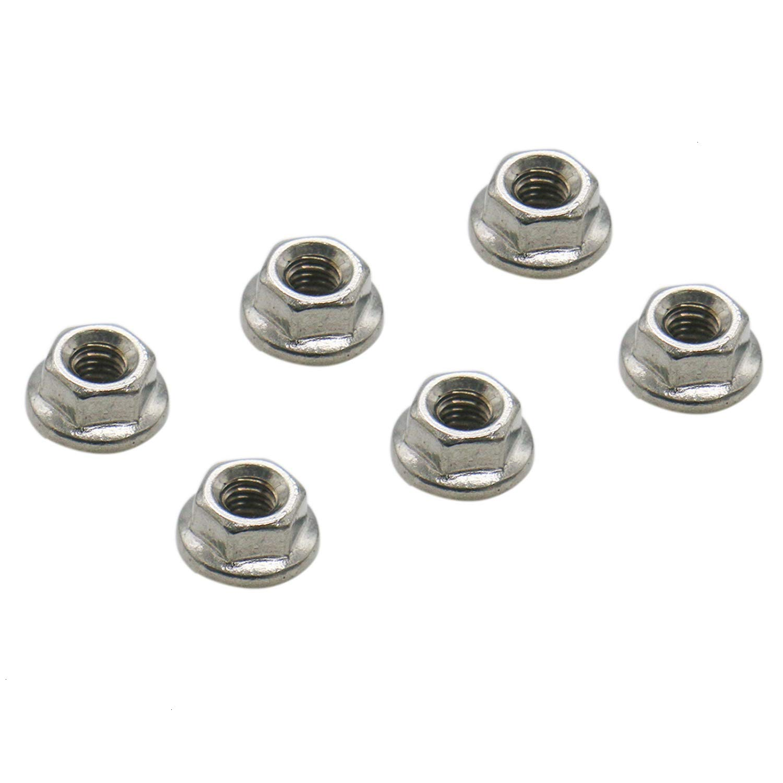 HUELE M3 Hex Flange Nuts 50pcs 304 Stainless Steel Serrated Flange Lock Nuts
