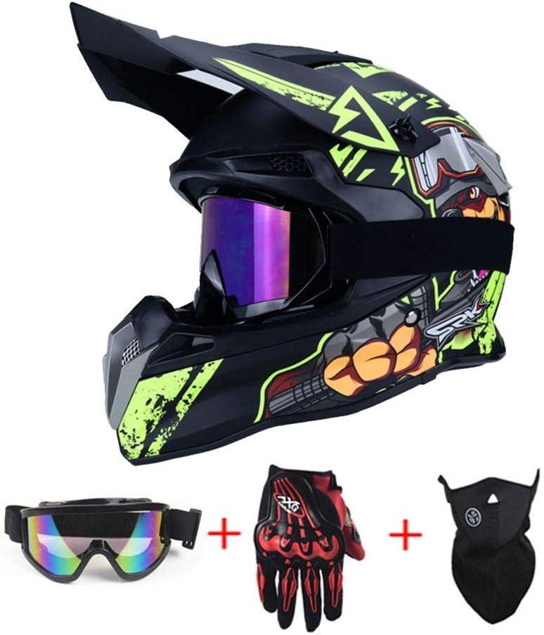 S Integral Helme Safe Full Face Downhill Dirt Bike Crosshelme City Helme NJYBF Motocross Helmet//Motorrad Classic Fahrrad MTB Helm Geschenk f/ür Erwachsene Jugend Junior Kinder Kinder