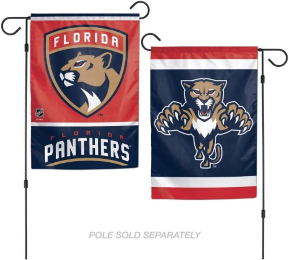 """WinCraft NHL Florida Panthers 12.5"""" x 18"""" Inch 2-Sided Garden Flag Logo"""