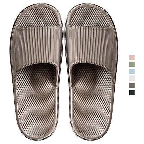 Bath Indoor Shower Gray Slip Unisex Men INFLATION Anti Non Home Open Slippers Toe Massage Women Sandals Slipper Slip dqn7wCB