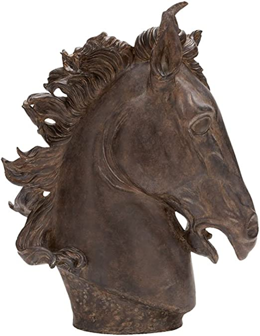 25 by 22-Inch Deco 79 Poly-Stone Horse Head