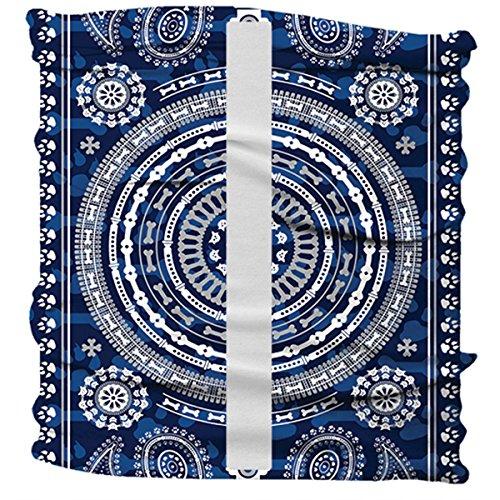 (BUFF Dog Neckwear Reflective, Dogdana Blue, Medium/Large)