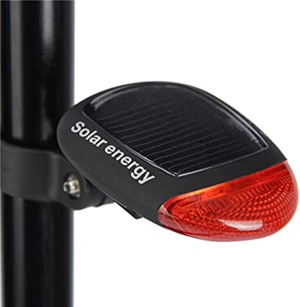 Bicycle Taillight Solar Energy Night Riding Warning Safe Light Bike Accessories