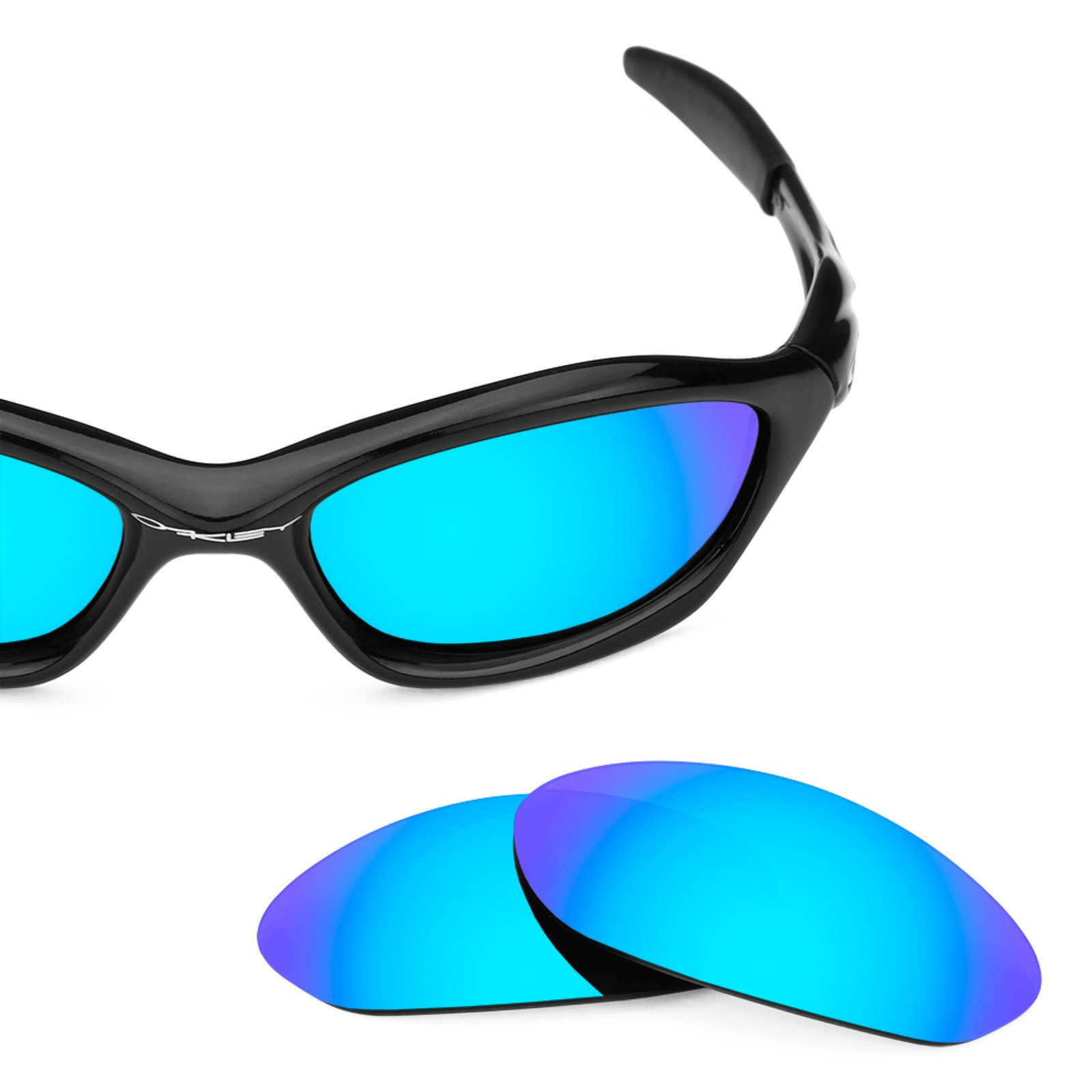 e163c130221 Revant Polarized Replacement Lenses for Oakley Unknown Elite Ice Blue  MirrorShield