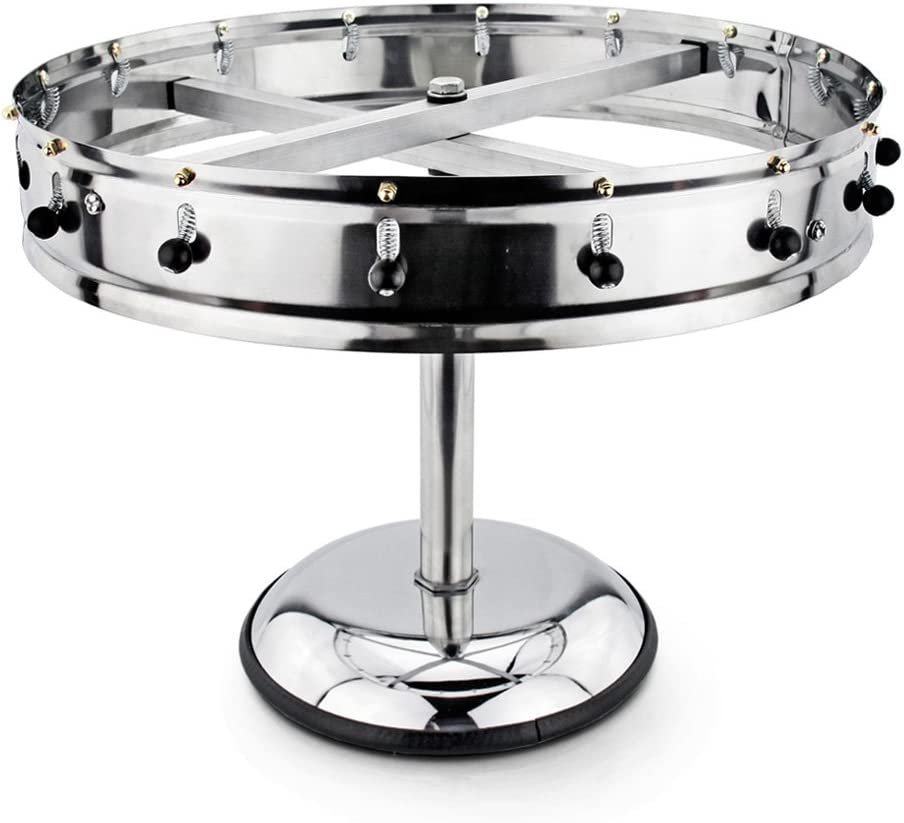 New Star Stainless Steel Order Wheel Ticket Holder, 16 Clips, 18-Inch Dia with 10-Inch Chrome Heavy Base, 1 Piece