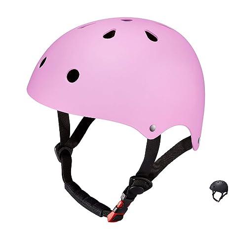 Casco Bici Niña Infantil Monopatín SKL Mall Tamaño Ajustable 48-52cm Patinete Transpirable (Rosa)