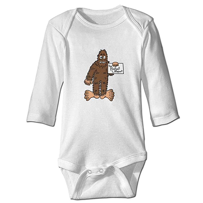 0ba964ab5 Thoreau Holmes Funny Bigfoot Sasquatch Baby 100% Cotton Essentials  Long-Sleeve Bodysuits Jumpsuit Clothes